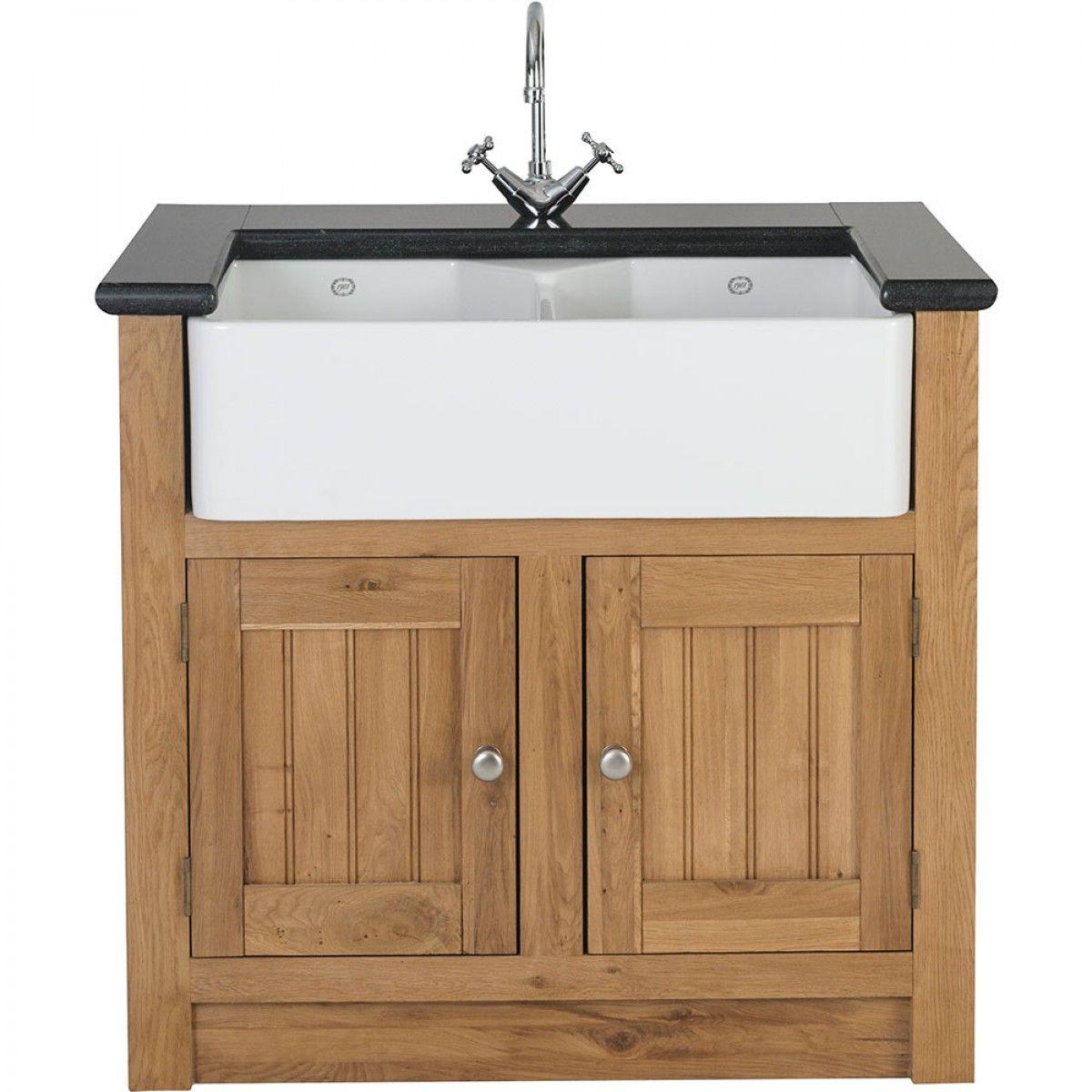 orchard oak 2 door sink cabinet 980x665x900mm belfast sink rh pinterest com
