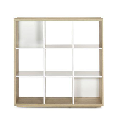 Bibliothèque 9 cases Design scandinave - Checker