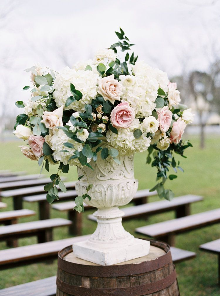 Maxit Flower Design Houston Texas Urn Arrangement Aisle Altar Wedding Flower Blush Garden Ros Wedding Arch Flowers Tiffany Blue Weddings Florist Design