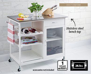 Premium Butcher Trolley Aldi Australia Kitchen Island Bench Stainless Steel Bench Kitchen Trolley