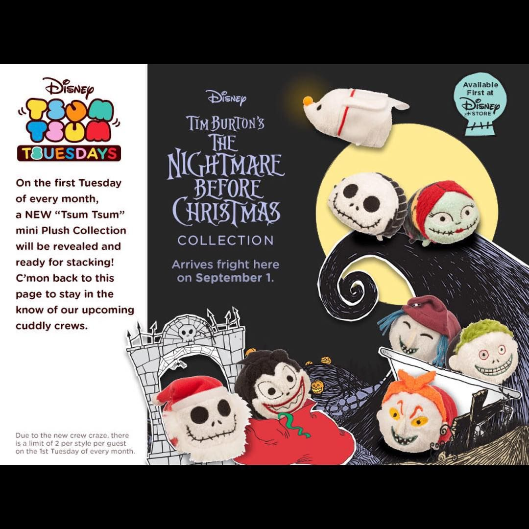 Preview of the upcoming Nightmare Before Christmas Tsum Tsums that ...