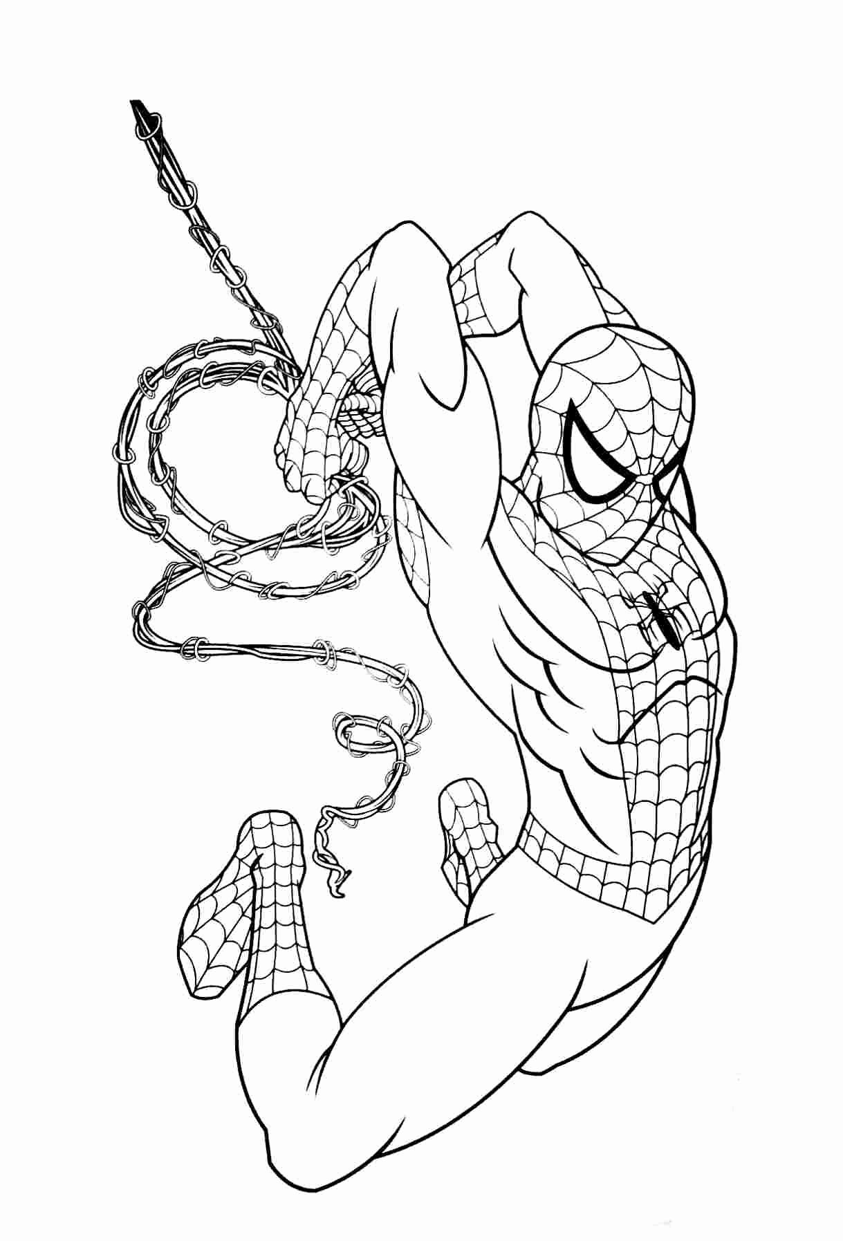 Coloring Pages for Kids Avengers Iron Spider in 2020