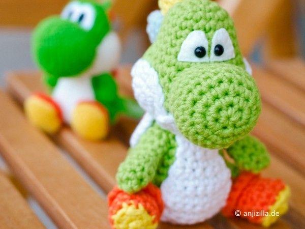 Amigurumi Yoshi Tutorial : Crochet yoshis yoshis woolly world dk youtube