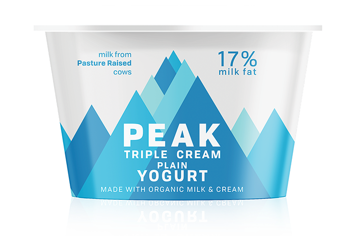 Peak Triple Cream Plain Yogurt