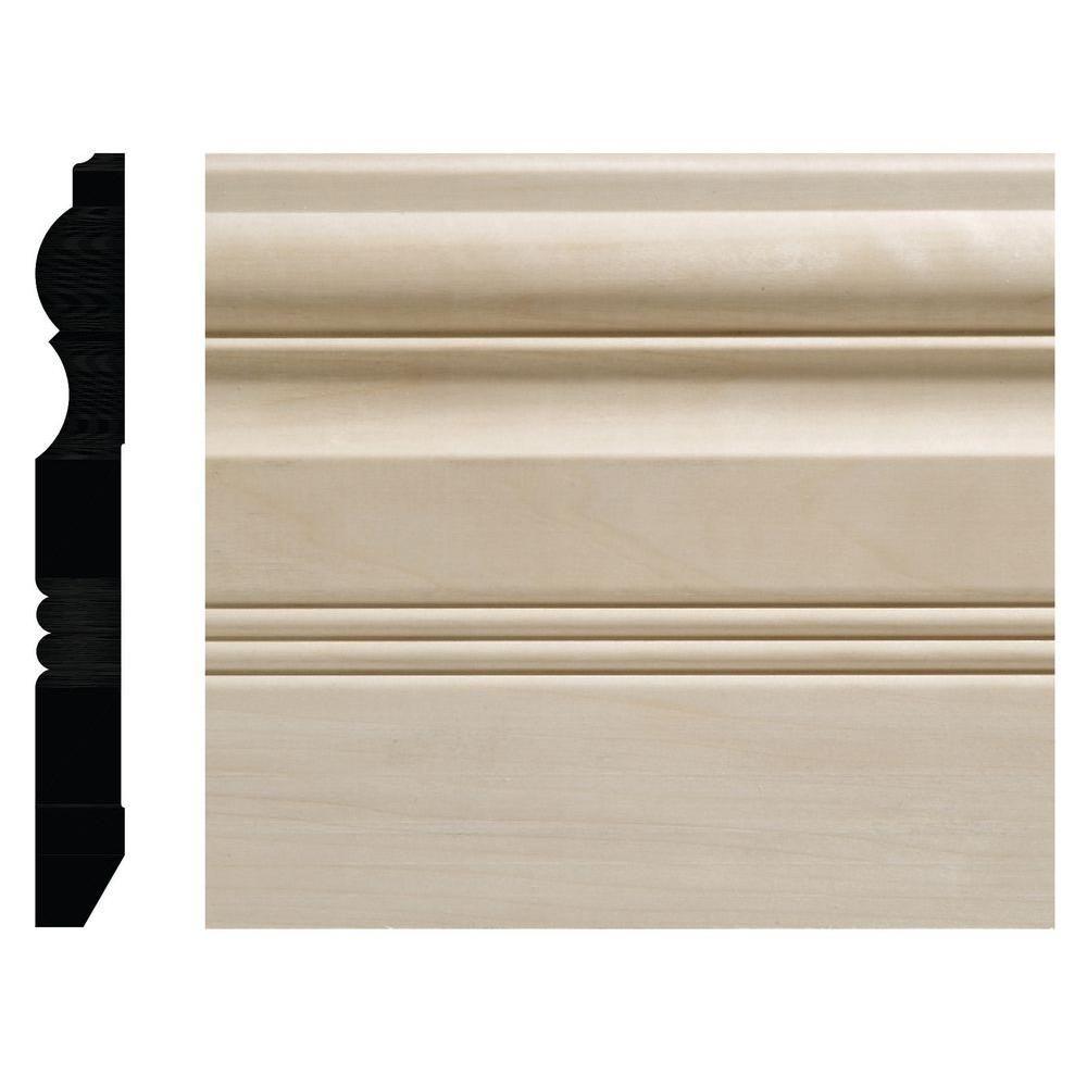 Ornamental Mouldings 3/4 in. x 6-1/2 in. White Hardwood Victorian ...