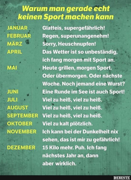Sport Spruch Lustig