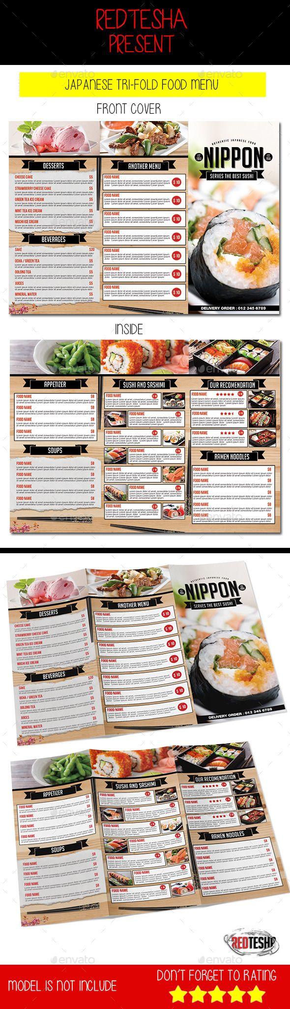 Japanese tri fold menu menu tri fold and menu templates japanese tri fold menu template design download httpgraphicriveritemjapanese trifold menu12664994refksioks maxwellsz