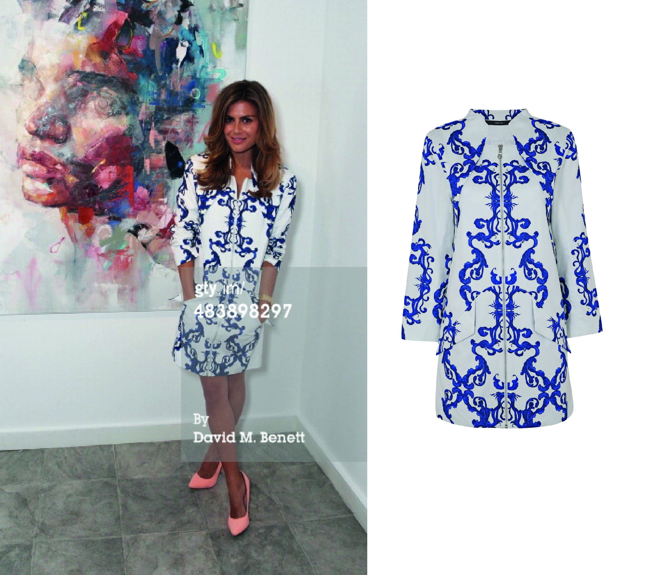 Zoe Hardman wearing JUDY WU SS14 at the 'Seven Deadly Sins' VIP Private View - March 2014