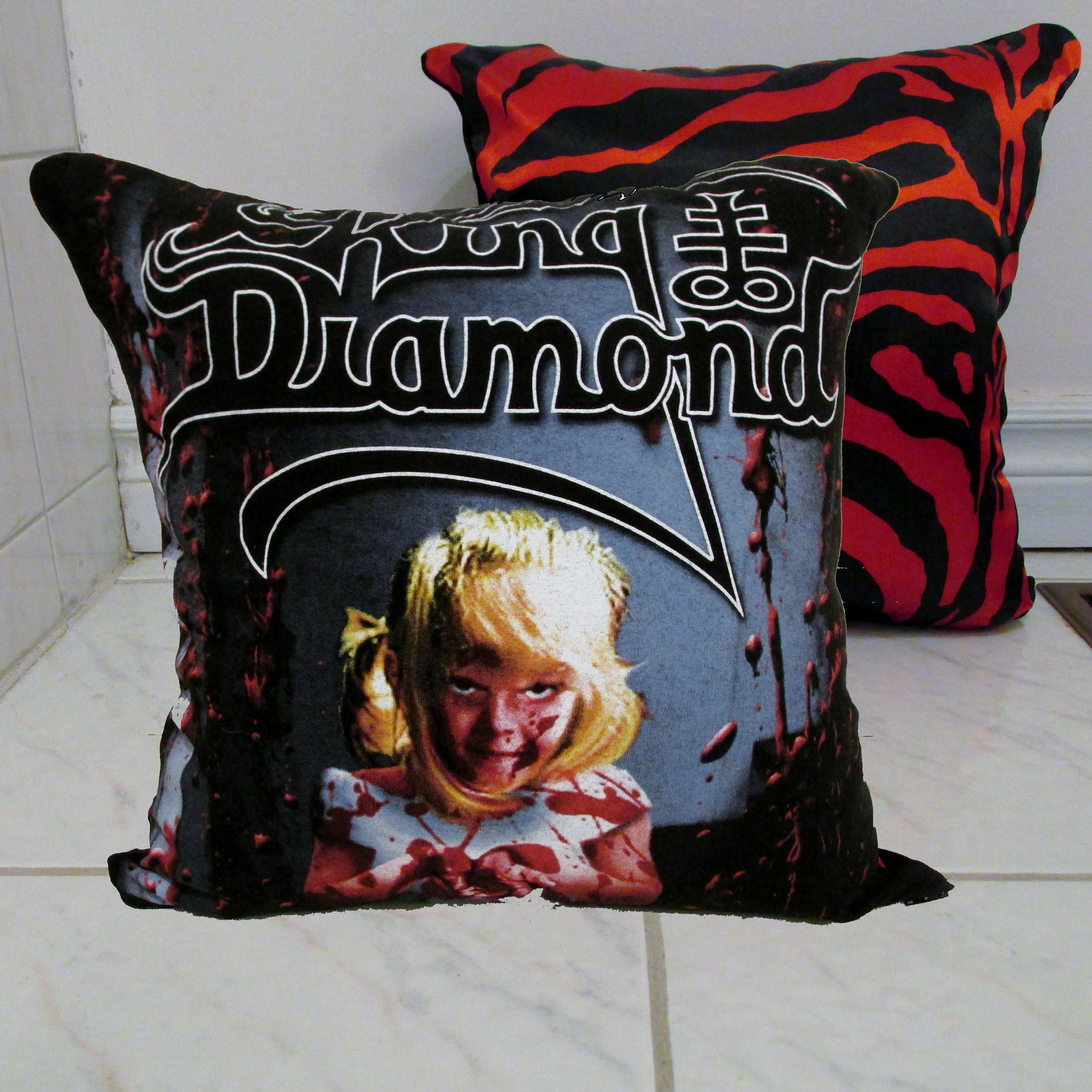 King Diamond Pillow Diy Heavy Metal Decor 4 Cover Or Full By Darkstormdesign