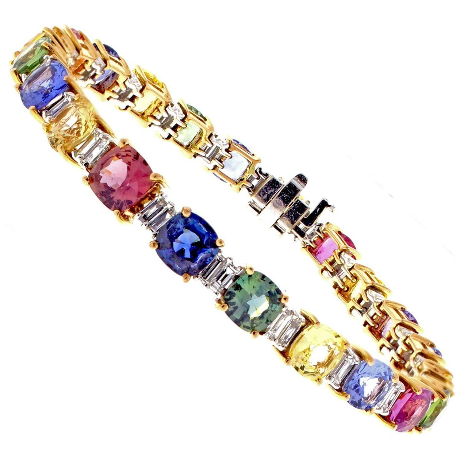 sapphires karat weight total products color eternity ring band gold sapphire multicolored w diamonds multi carat