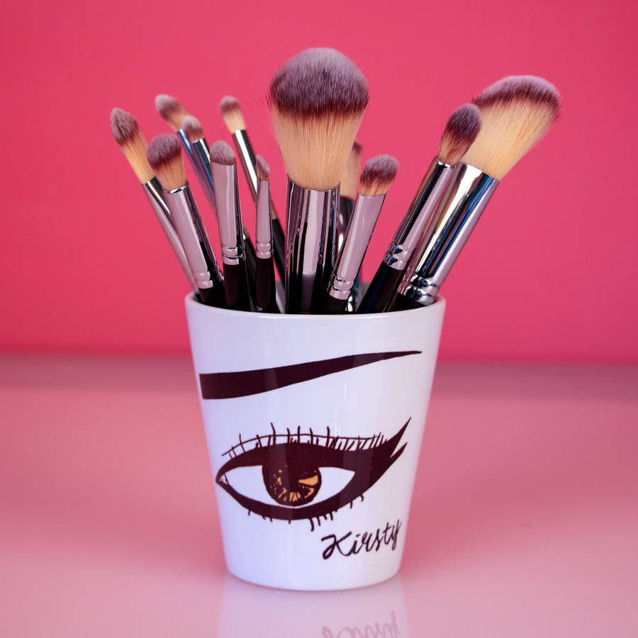 I've just found Personalised Make Up Brush Pot. The perfect gift for make up loving young women - a personalised pot to safely store their make up brushes. £15.00