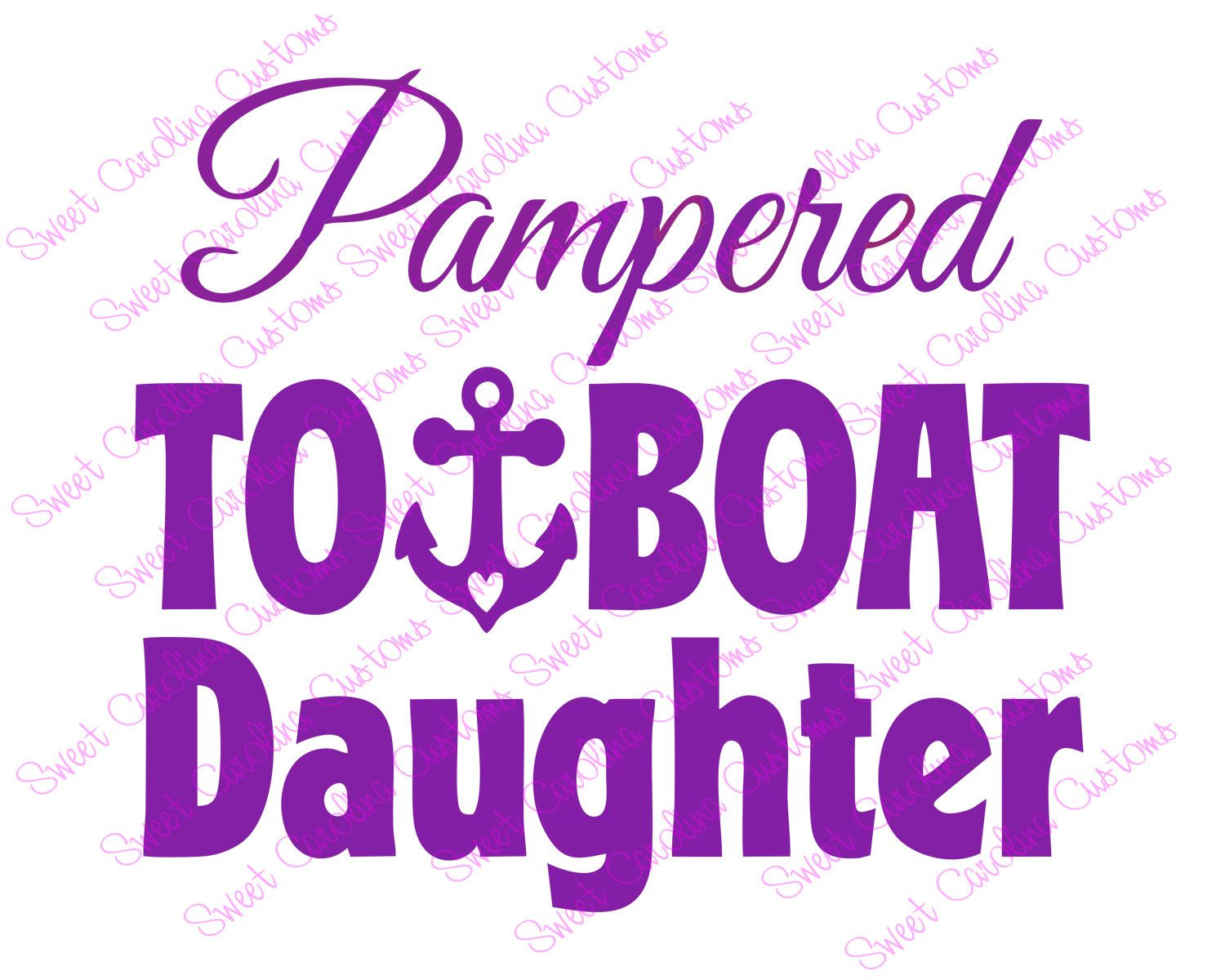 Pampered Towboat Daughter Car Decal - pinned by pin4etsy.com