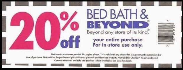 ... coupons bed bath and beyond off entire purchase online or in bed bath  and beyond 20 ...