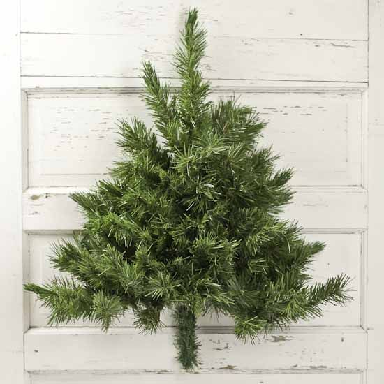 Wall Mounted Half Artificial Pine Tree Wall Decor Home Decor Wall Mounted Christmas Tree Half Christmas Tree Tree Wall Decor