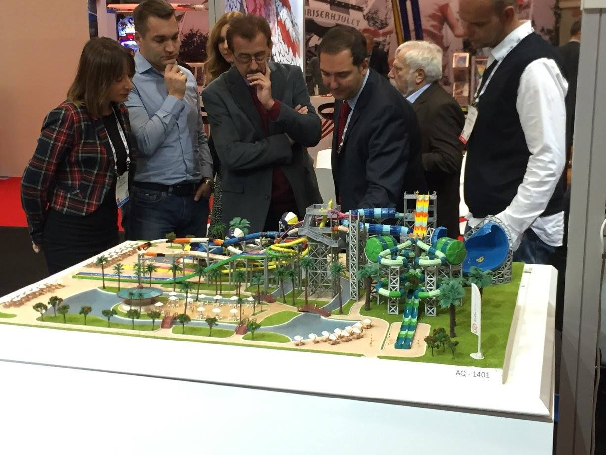 Fantastic model of @polinwaterparks products at #EAS15