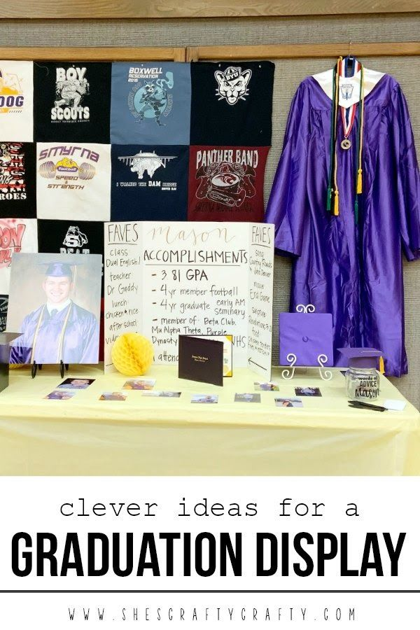She's crafty: Clever ideas for a Graduation Display