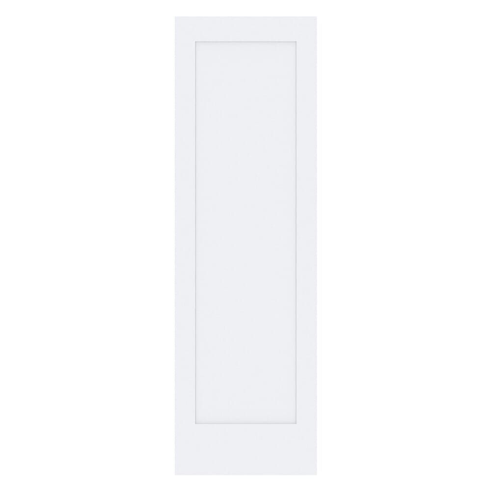 Kimberly Bay 24 In X 80 In White 1 Panel Shaker Solid Core Wood Interior Door Slab Dpsha1w24 The Home Depot In 2020 Wood Doors Interior Cabinet Doors Country Style Kitchen