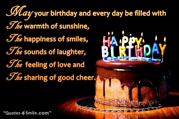 Best Birthday Quotes For Friend In English: Birthday Wishes For A Friend. May Your Birthday And Every