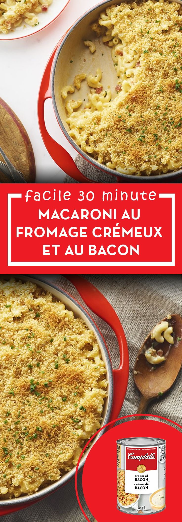 macaroni au fromage et bacon recette la cuisine. Black Bedroom Furniture Sets. Home Design Ideas