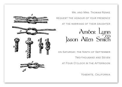 Rock Climber Wedding Invitations Climbing Knot Knots