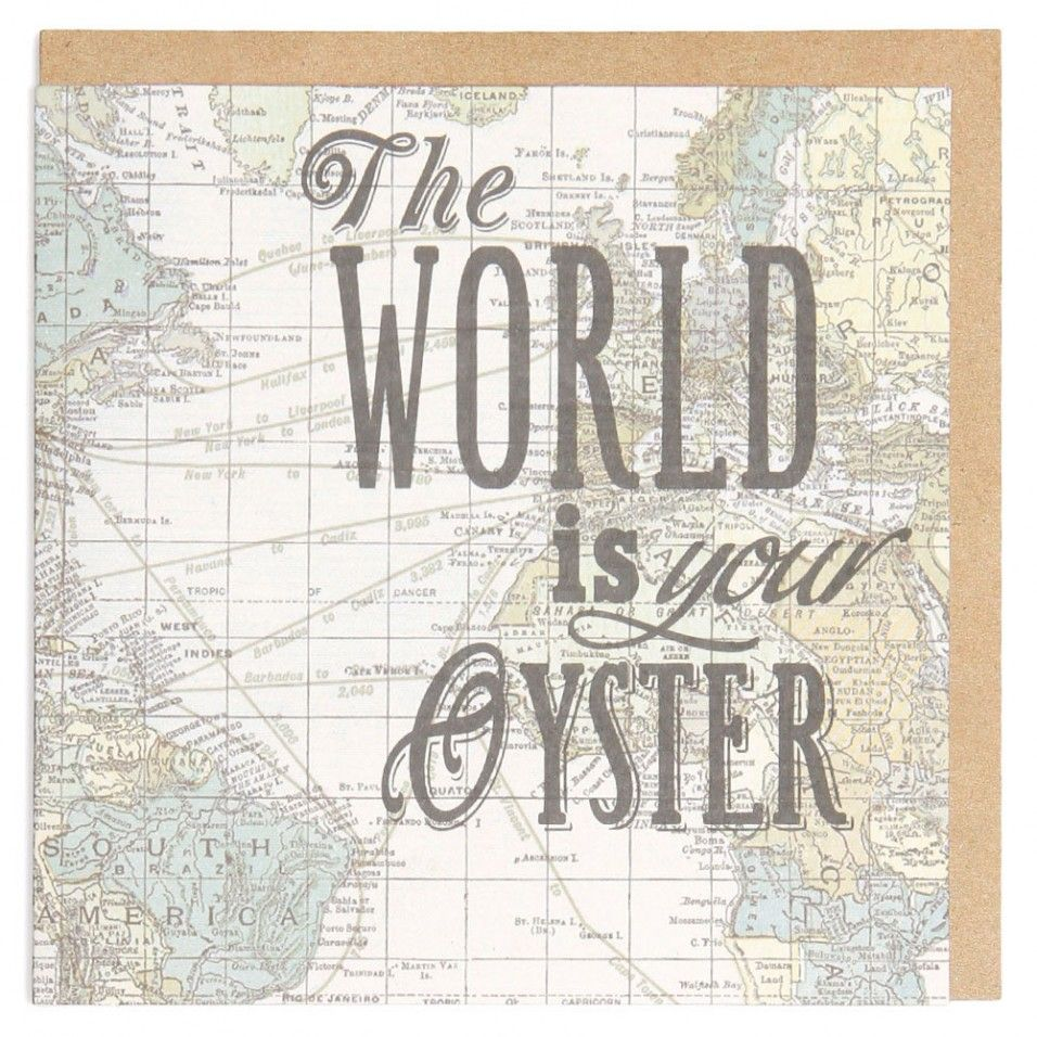 The world is your oyster map card cards pinterest oysters the world is your oyster map card gumiabroncs Image collections