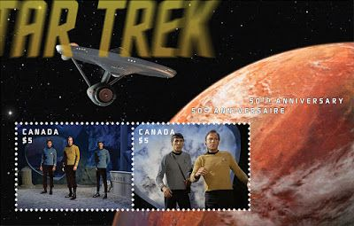 The Trek Collective: Canada Post's Star Trek stamps collection
