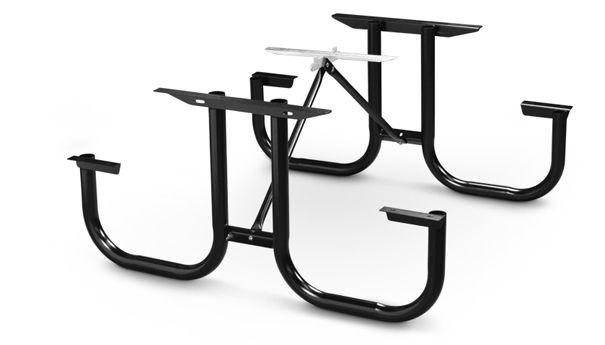 Model Pmb Wf Park Master Picnic Table Black Enamel Frame Kit Metal Picnic Tables Picnic Table Table Frame