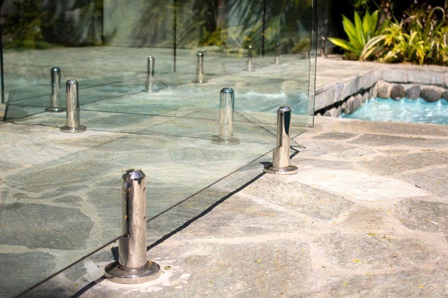 Australia Framless Glass Pool Fence With Round Glass Spigot Glass Pool Fencing Glass Pool Pool Fence