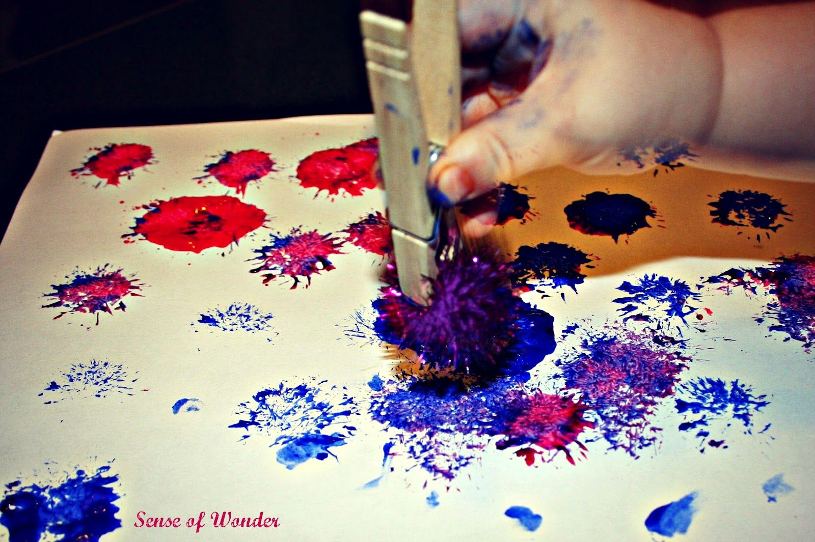 Painted Pom Pom Fireworks For The 4th Of July Or After Need Pom Pom Clothes Pin Paint