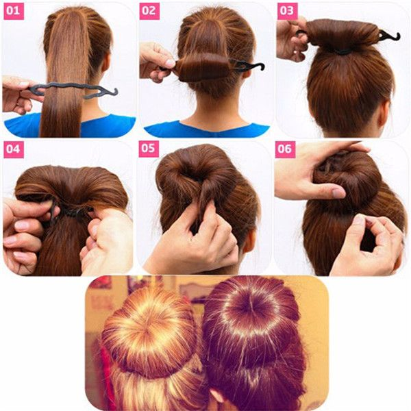 Details about  /Women Girls Party Fashion Accessories Hair Styling Wavy Hair Tails Clip Stick