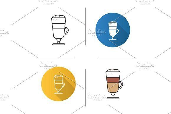 Latte macchiato icon #lattemacchiato