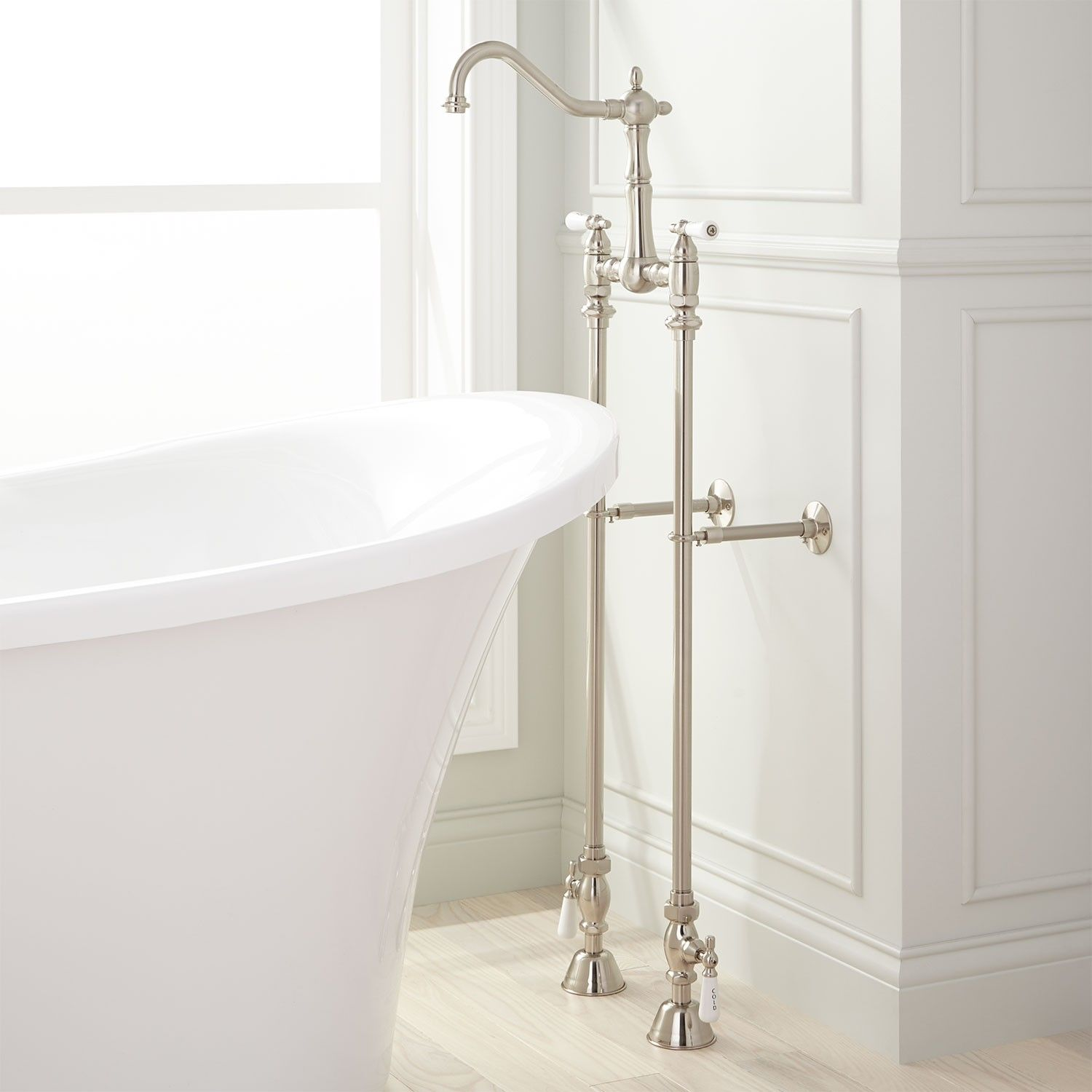 Victorian Freestanding Tub Faucet, Supplies and Shutoff Valves ...