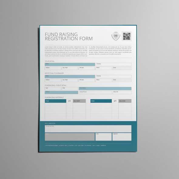 Fund Raising Registration US Letter Form CMYK \ Print Ready - change of address printable form