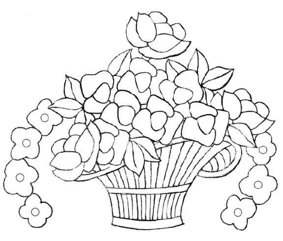 Dibujos de canastas de flores para bordar - Imagui | imagen flores ...