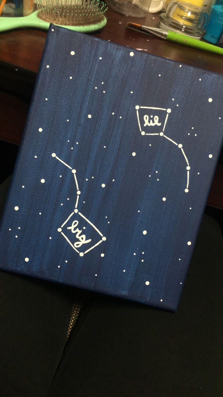 Big little constellation canvas big dipper little dipper