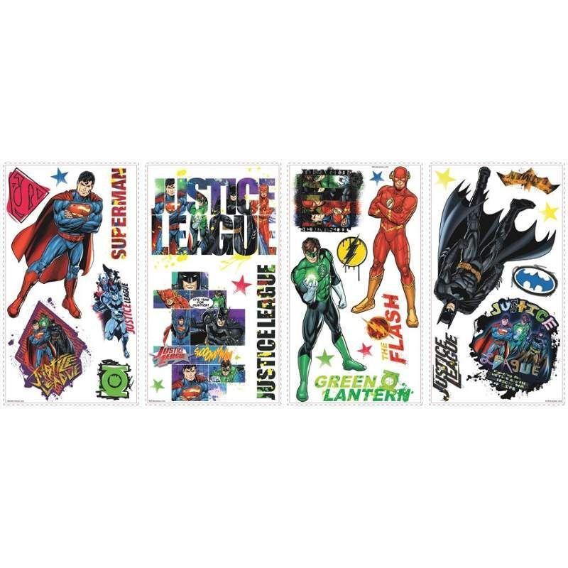 York Wallcoverings Rmk2138scs Justice League L Stick Wall Decals Multi Home Decor Wallpaper