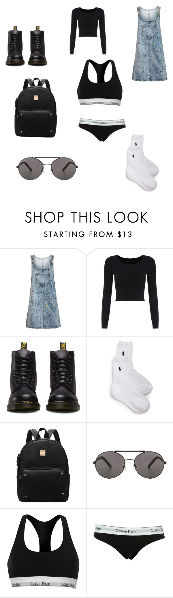 """""""Untitled #581"""" by ashantisherman27798 on Polyvore featuring Topshop, Dr. Martens, Ralph Lauren, Seafolly and Calvin Klein"""