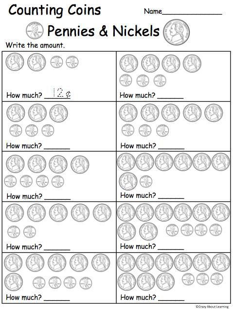 Free Counting Money Pennies Nickels Worksheet Madebyteachers Money Math Money Worksheets Money Kindergarten