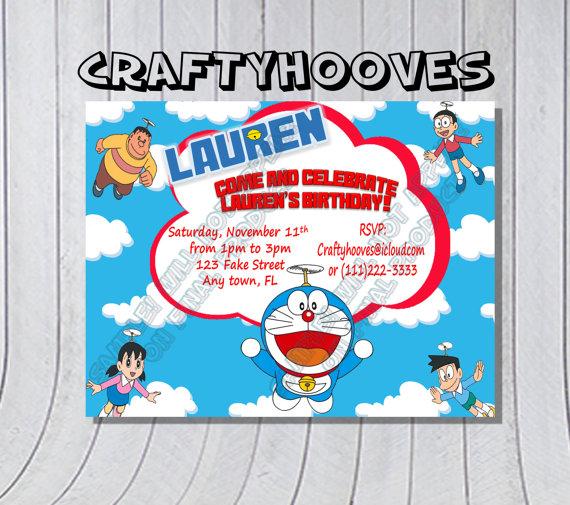 Doraemon Birthday Invitation Template 7