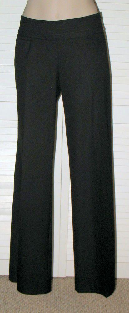 TRINA TURK Side Zip Flare Leg Low Rise Pants Sz 2 BLACK NWOT #TrinaTurk #FlareLegTrouser