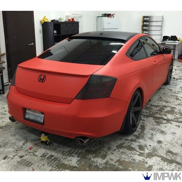 Honda Accord Wrapped In 3m 1080 Matte Red Vinyl By Imperialworks Thanks From Fellers Honda Accord Coupe Honda Civic Car Accord Coupe