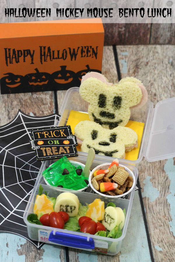 How To Make A Halloween Mickey Mouse Bento Lunch Easy