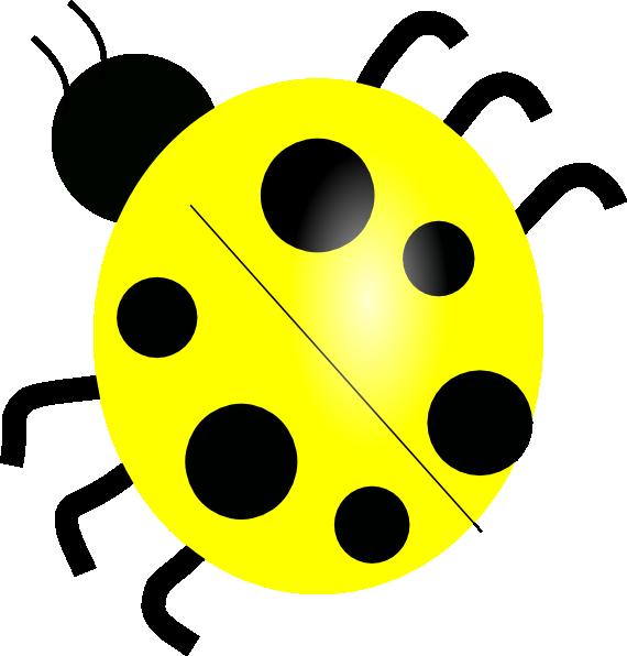 Yellow Ladybugs Yellow Ladybug Clip Art - Vector Clip Art Online, Royalty  Free Clip Art, Yellow Ladybug, Ladybug