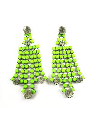 Objects That Are Lime Green Neon Earrings Love