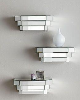 Stair Step Shelves #Mirrored #loveit