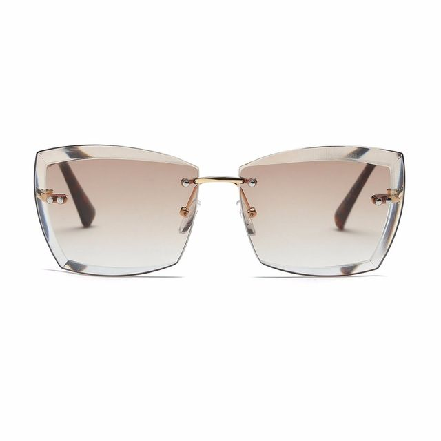 91a5b1ddbd2f Buy AEVOGUE Sunglasses For Women Square Rimless Diamond cutting Lens Brand  Designer Fashion Shades Sun Glasses