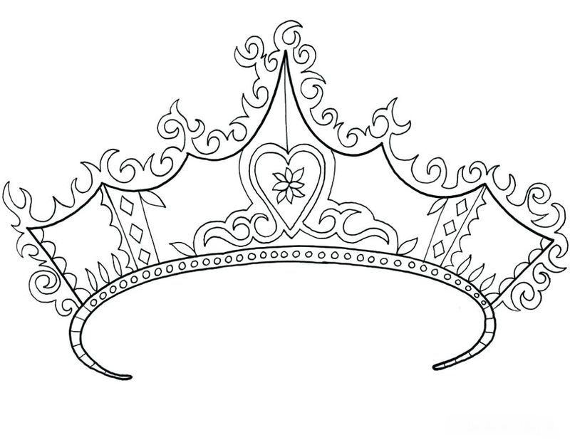 A Crown Coloring Page Printable A Simple Headdress Or With A Lot Of Decoration Worn By Prominent Peo Princess Coloring Pages Princess Coloring Coloring Pages