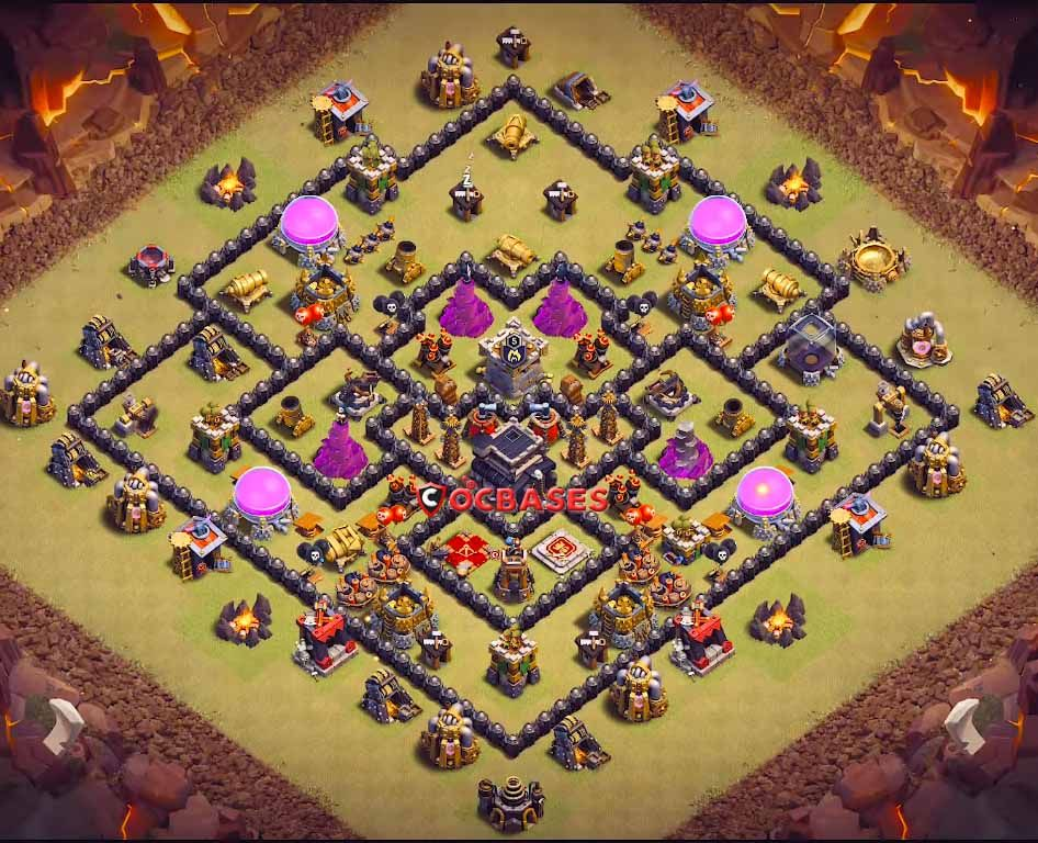 Best Th9 War Base Layout 6