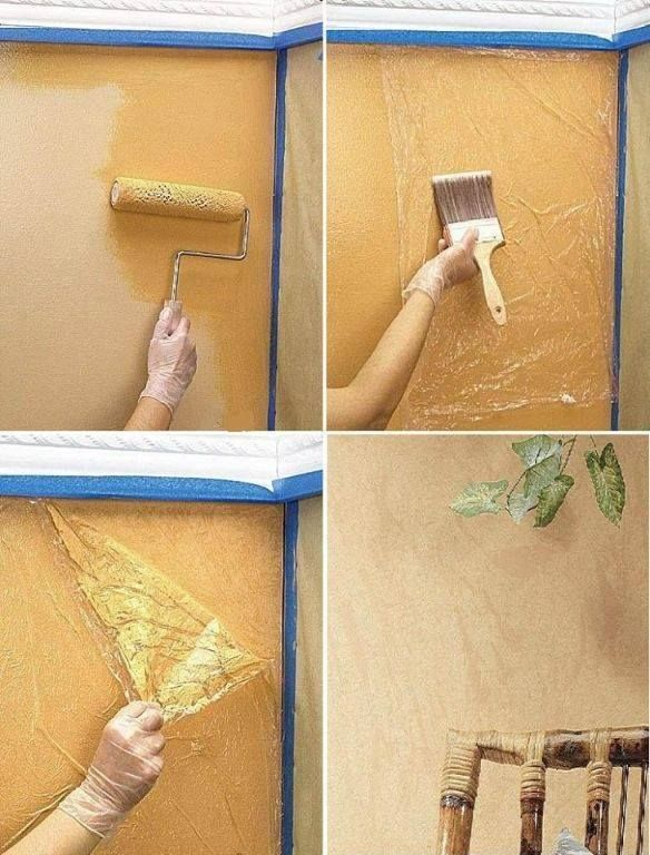 50 Cool ideas to decorate your walls | Technique brushes, Easy wall ...