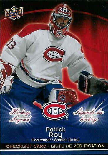2009 10 Mcdonalds Patrick Roy Hockey Card